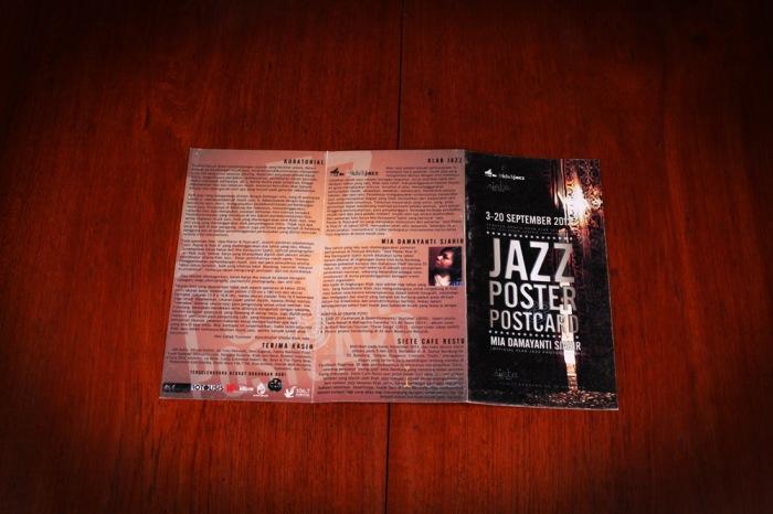 jazz poster postcard